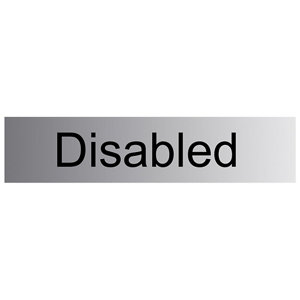 Image of Disabled Self-adhesive labels (H)50mm (W)200mm