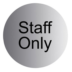 Image of Staff only Advisory sign