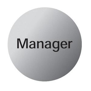 Image of Manager Advisory sign