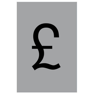 Image of Pound symbol Self-adhesive labels (H)60mm (W)40mm