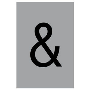 Image of Ampersand symbol Silver effect Self-adhesive labels (H)60mm (W)40mm