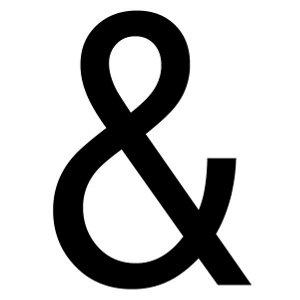 Image of Ampersand symbol Black Self-adhesive labels (H)60mm (W)40mm