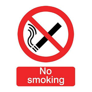 Image of No smoking Self-adhesive labels (H)200mm (W)150mm