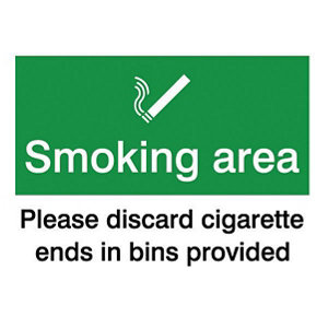 Image of Smoking area Self-adhesive labels (H)200mm (W)150mm