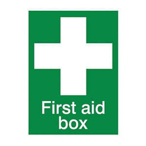 Image of First aid box Self-adhesive labels (H)200mm (W)150mm