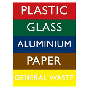 Image of Recycling bin Self-adhesive labels (H)200mm (W)150mm