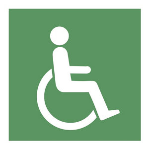 Image of Disabled symbol Self-adhesive labels (H)100mm (W)100mm
