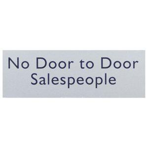 Image of No door to door sales people Self-adhesive labels (H)50mm (W)150mm