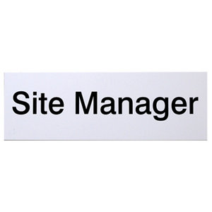 Image of Site manager Site safety sign (H)100mm(W)250mm