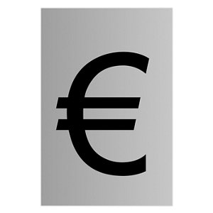 Image of Euro symbol Self-adhesive labels (H)60mm (W)40mm