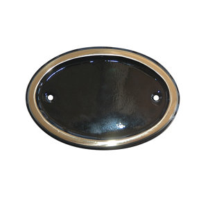 Image of The House Nameplate Company Brass Oval House number (H)102mm (W)140mm