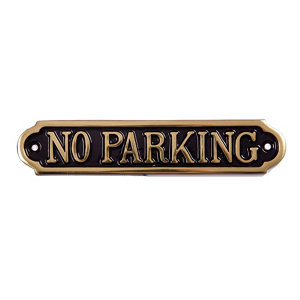 Image of No parking Parking sign (H)50mm (W)240mm