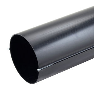Image of Manrose Black Solid wall duct (L)0.35m (Dia)150mm