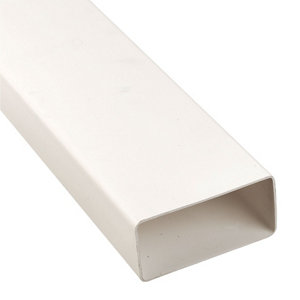 Image of Manrose White Flat channel ducting (L)1m (Dia)100mm