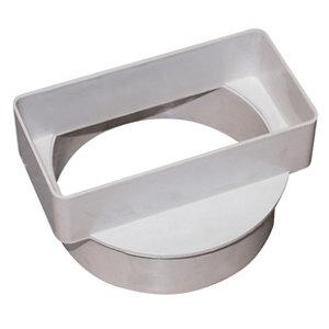 Image of Manrose White Flat to round ducting adaptor (Dia)100mm (W)110mm