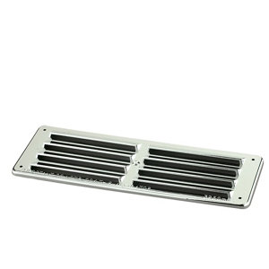 Image of Manrose Chrome effect Rectangular Gas appliances Fixed louvre vent (H)76mm (W)229mm
