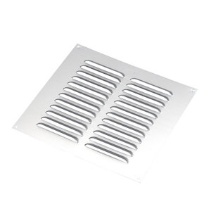 Image of Manrose Chrome effect Square Applications requiring low extraction rates Fixed louvre vent (H)229mm (W)229mm