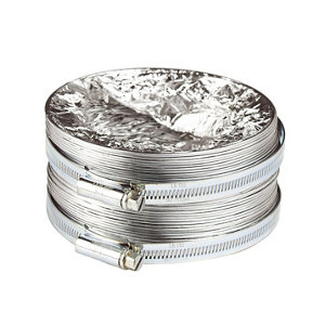 Image of Manrose Silver Aluminium Ducting hose (L)1m (Dia)100mm