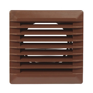 Image of Manrose Brown Square Applications requiring low extraction rates Fixed louvre vent (H)110mm (W)110mm