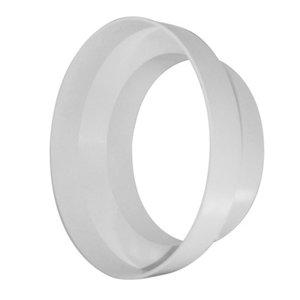 Image of Manrose White Ducting reducer (Dia)100mm (W)125mm