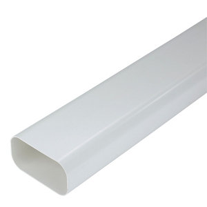 Image of Manrose White Flat channel ducting (L)1m (Dia)125mm