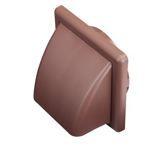 Image of Manrose Brown Square Applications requiring low extraction rates Hooded air vent (H)140mm (W)140mm