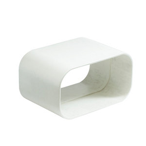 Image of Manrose White Flat channel ducting connector (Dia)125mm (W)150mm
