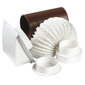 Image of Manrose V41703 Tumble dryer kit (L)1m (Dia)100mm