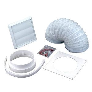 Image of Manrose V43077 White Cooker hood venting kit (D)125mm
