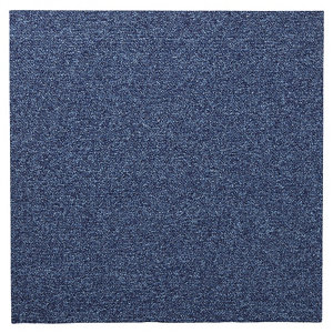 Image of Colours Dark blue Loop Carpet tile (L)500mm