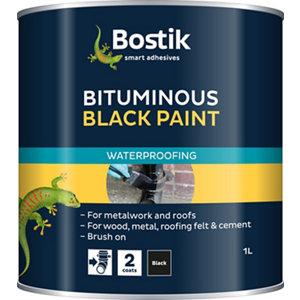 Image of Bostik Black Multi-purpose waterproofer 1L Tin