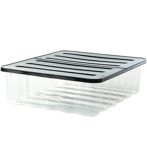 Image of 2 PACK 40L UNDER BED STORAGE BOX CLEAR
