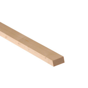 Image of Smooth Planed Square edge Spruce Timber (L)1.8m (W)44mm (T)18mm Pack of 18