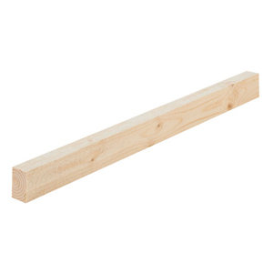 Image of Rough sawn Whitewood spruce Timber (L)2.4m (W)30mm (T)10mm Pack of 8