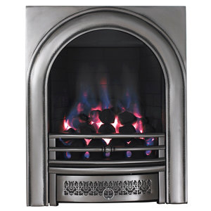 Image of Focal Point Arch Chrome effect Gas Fire
