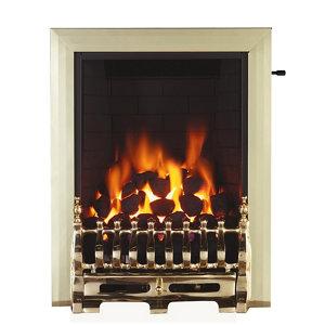 Image of Focal Point Blenheim Brass effect Gas Fire