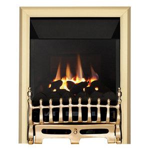 Image of Focal Point Blenheim high efficiency Brass effect Gas Fire
