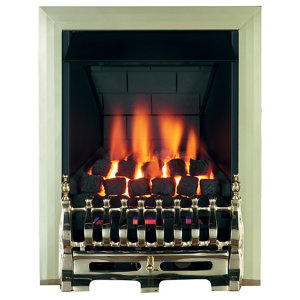 Focal Point Blenheim multi flue Brass effect Manual control Gas Fire FPFBQ014