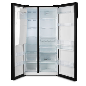 Image of Beko ASGN542B American style Black Freestanding Fridge freezer