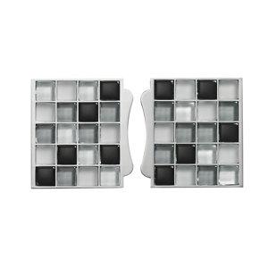 Image of Sassi Black Glass effect Glass Mosaic tile (L)87mm (W)79mm