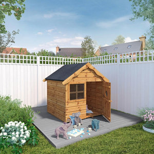 Mercia 5x4 Snug Apex Shiplap Playhouse - Assembly service included