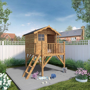 Mercia 7x6 Poppy Apex Shiplap Tower playhouse - Assembly service included