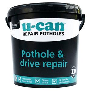 Image of U-Can Ready mixed Pothole Repair mortar 10kg Tub