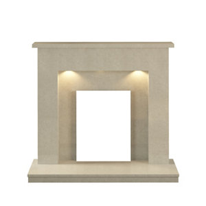 Image of Be Modern Alnwick Manila Fire surround with lights