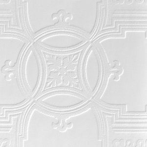 Image of Anaglypta Luxury Early victorian White Blown Wallpaper