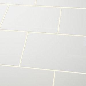 Image of Alexandrina White Gloss Ceramic Wall tile Pack of 10 (L)402.4mm (W)251.6mm