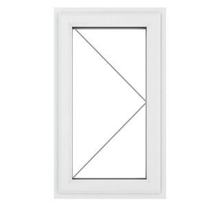 GoodHome Clear Double glazed White uPVC RH Window  (H)1190mm (W)610mm