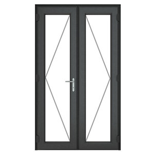 Image of GoodHome Clear Double glazed Grey uPVC External Patio door & frame (H)2090mm (W)1190mm