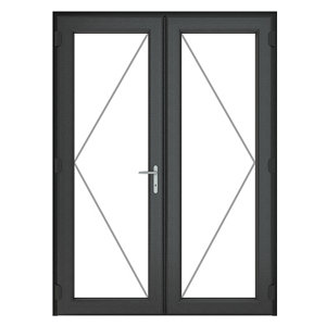 Image of GoodHome Clear Double glazed Grey uPVC External Patio door & frame (H)2090mm (W)1490mm