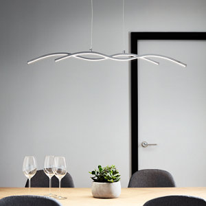 Image of Alani Chrome effect 2 Lamp Pendant ceiling light